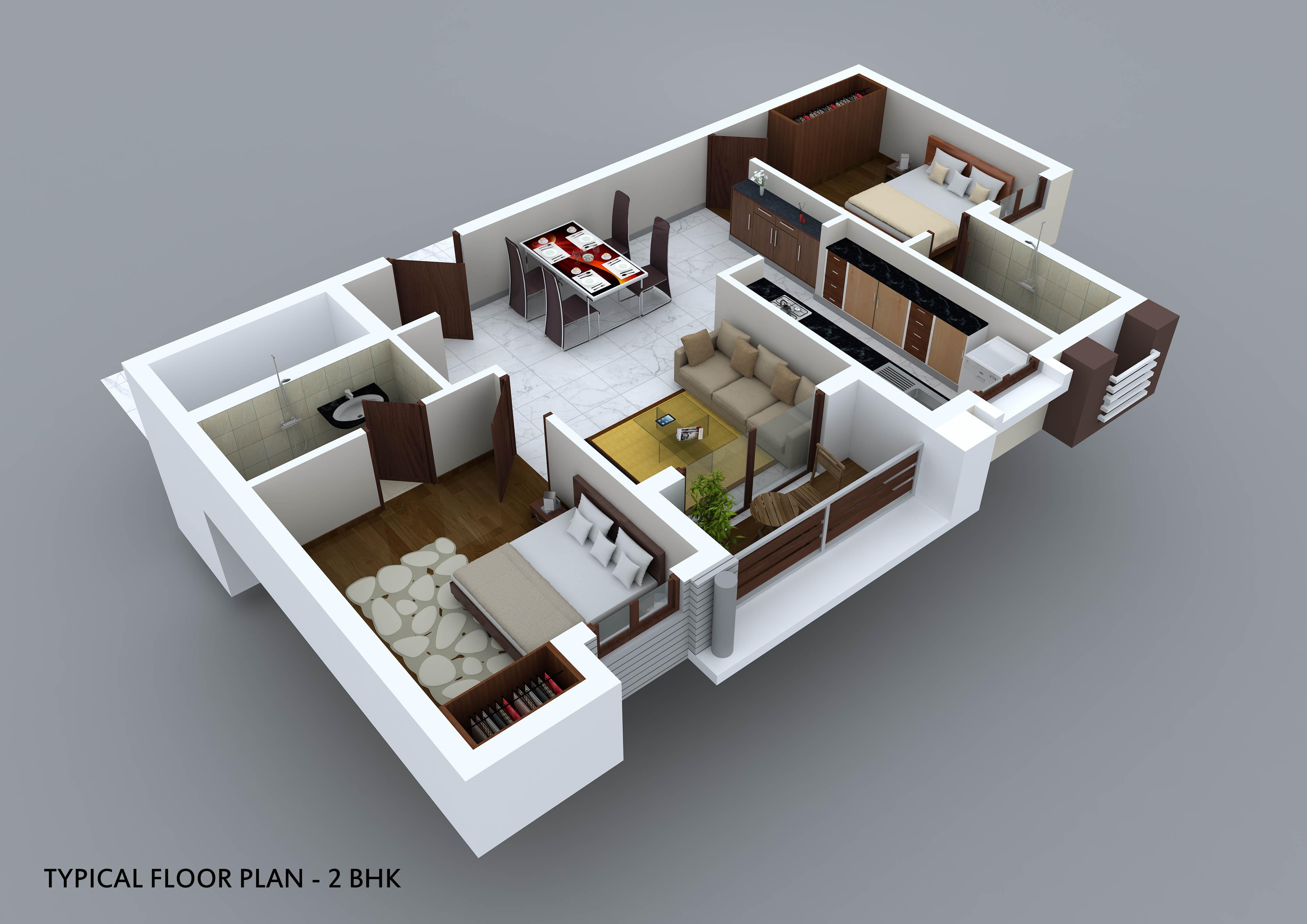 Small Bathroom Floorplans Flats In Ambattur 2 Bhk Flats Near Ambattur