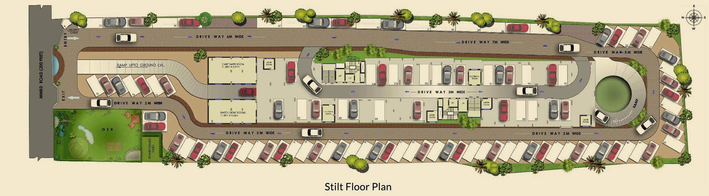 Agni estates pelican heights for Stilt plan